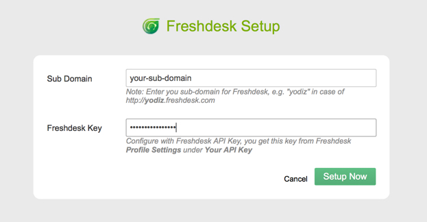 Yodiz Integration with Freshdesk