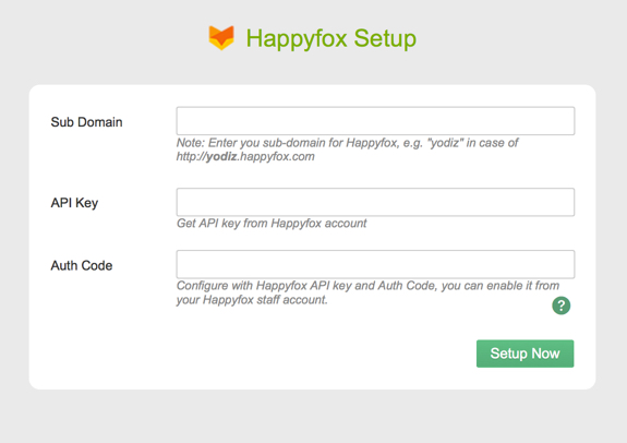Happyfox integration setup with Yodiz.